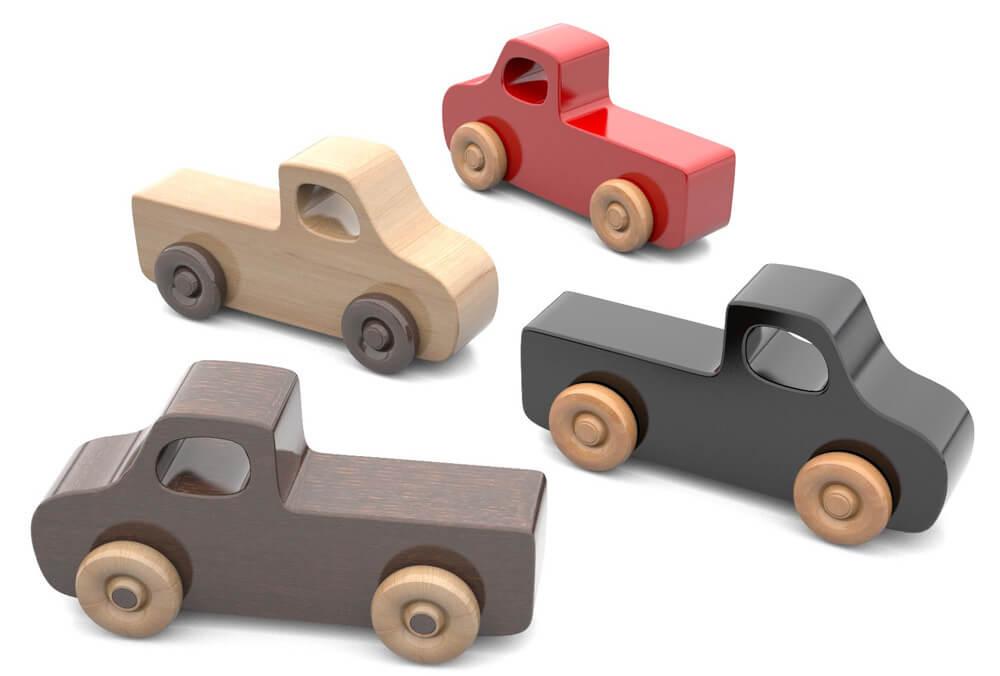 masinute din lemn - Super Simple Play Pals 7 - Set 7 mașinuțe din lemn