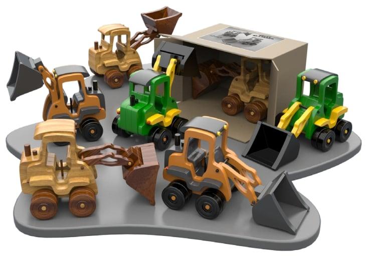 excavator-din-lemn