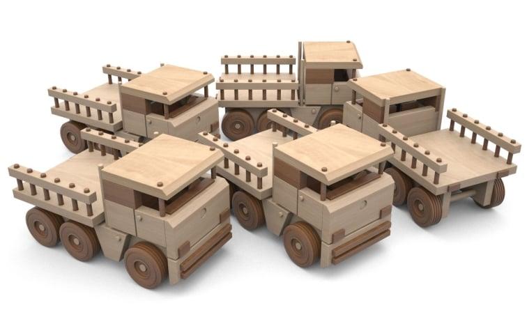 camion mercedes din lemn - camion mercedes6 1 - Camion Mercedes din lemn