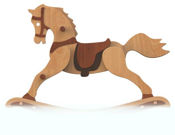 calut din lemn - casda 2 10 1 - Căluț din lemn